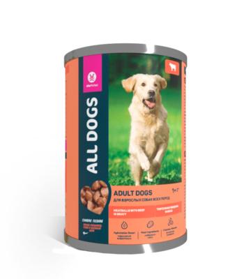All Dogs тефтельки с говядиной в соусе, 415гр