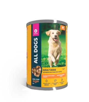 All Dogs тефтельки с индейкой в соусе, 415гр