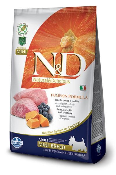 N&D Dog GF Pumpkin Lamb & Blueberry Adult Mini, 2,5 кг
