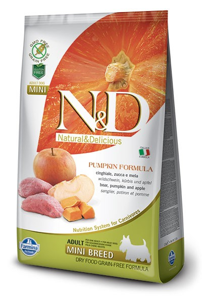 N&D Dog GF Pumpkin Boar & Apple Adult Mini, 7 кг