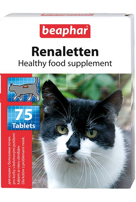 BEAPHAR Renaletten для кошек с почечными проблемами,75 таб.