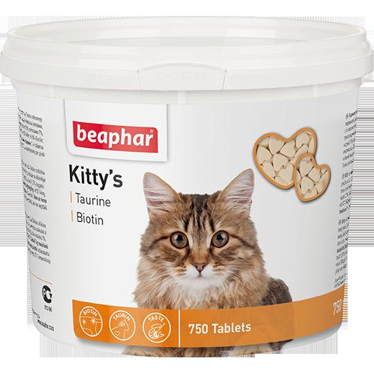 BEAPHAR Kitty's + Taurine-Biotine с биотином и таурином для кошек, 180 таб.