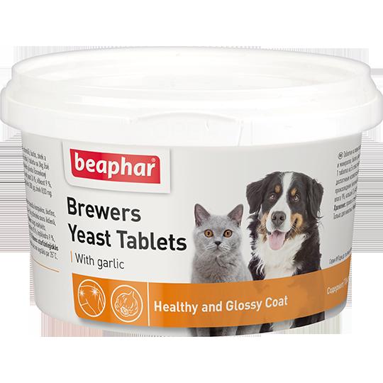 BEAPHAR Brewers Yeast Tablets с чесноком для кошек и собак, 250 таб.
