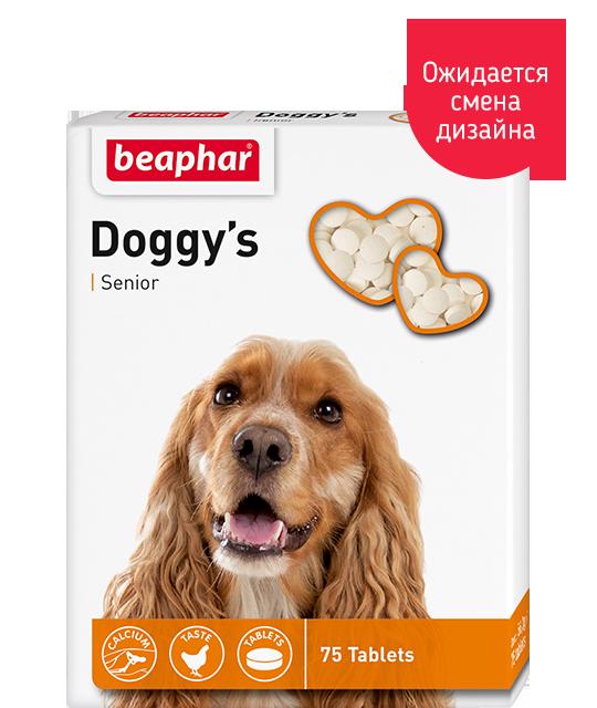 BEAPHAR Doggy's Senior для собак старше 7 лет, 75 таб