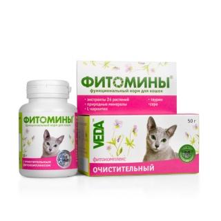 ФИТОМИНЫ с очистительным фитокомплексом для кошек, 50гр