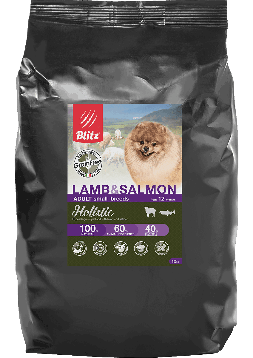 Blitz Lamb & Salmon Small Breeds Grain Free, 1,5 кг