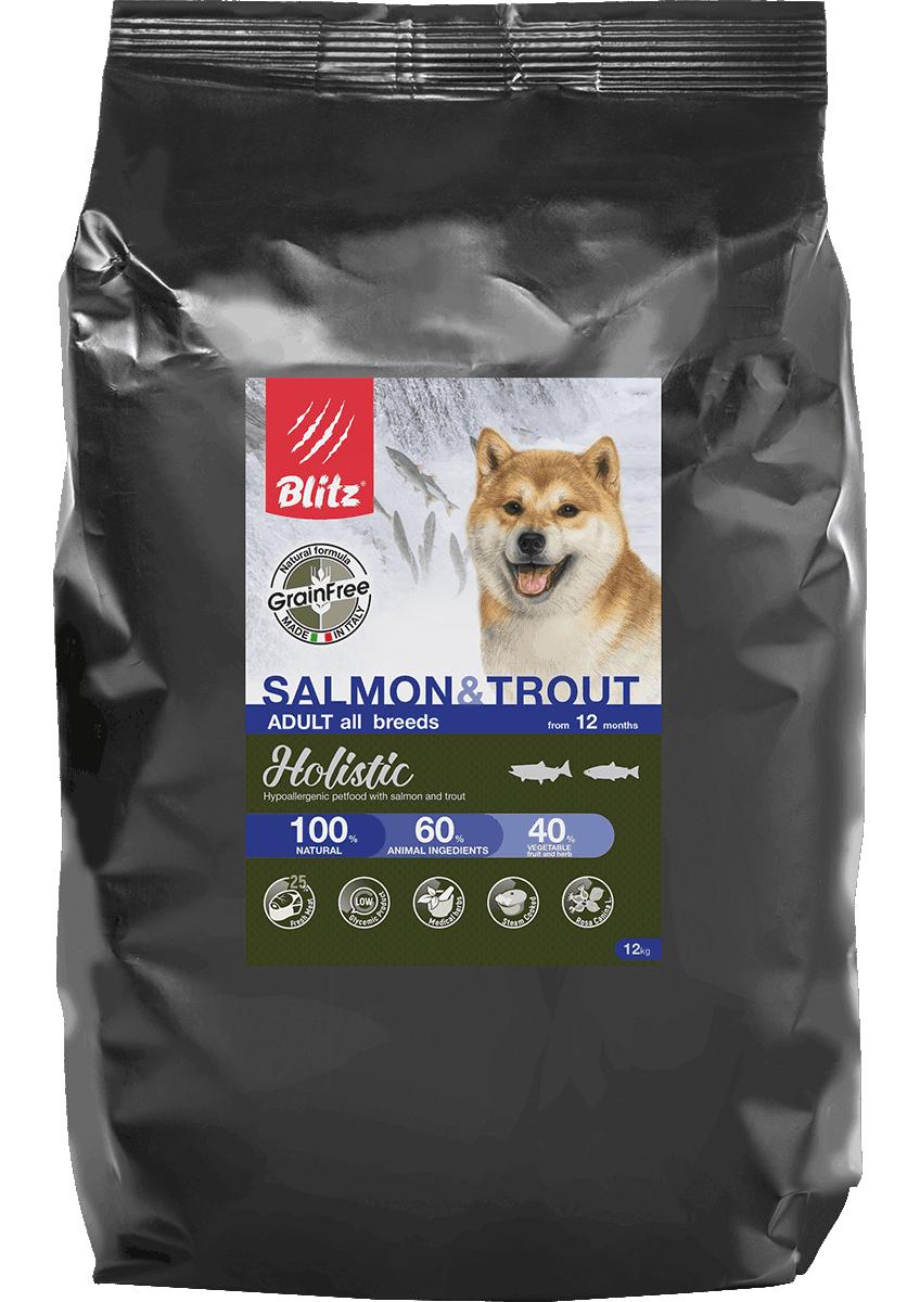Blitz Salmon & Trout All Breeds Grain Free, 1,5 кг