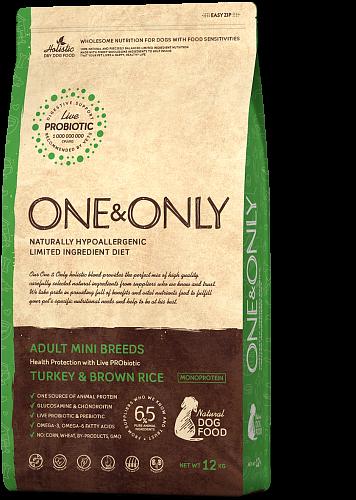 ONE&ONLY Adult Mini Breeds Индейка с рисом, 1 кг