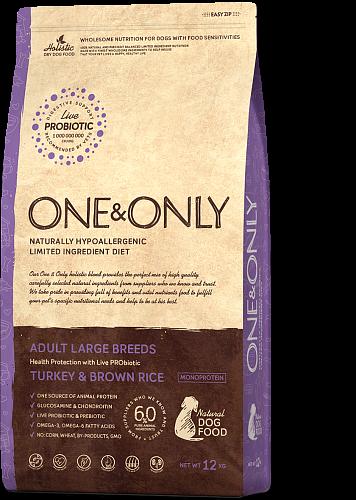 ONE&ONLY Adult Maxi Breeds Индейка с рисом, 12 кг