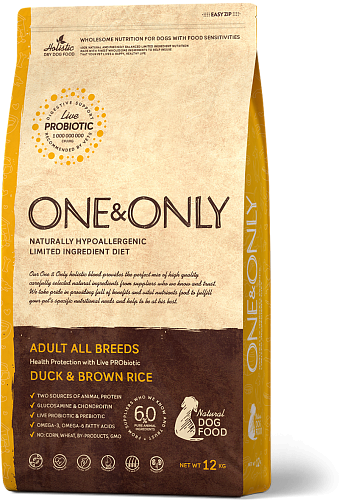 ONE&ONLY Adult All Breeds Утка с рисом, 1 кг