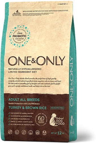 ONE&ONLY Adult All Breeds Индейка с рисом, 1 кг