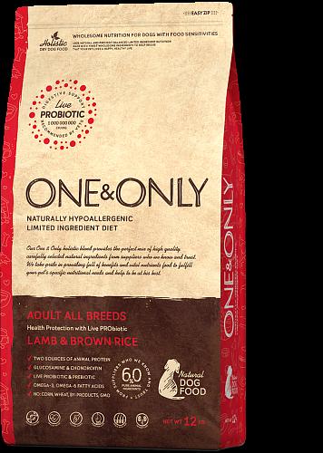 ONE&ONLY Adult All Breeds Ягненок с рисом, 1 кг
