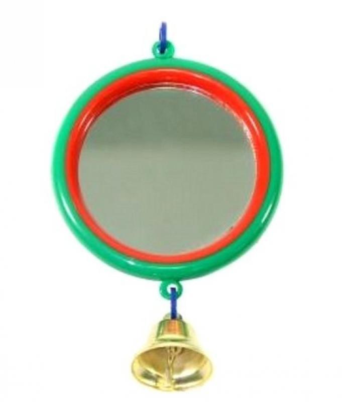 Зеркало Дарэлл для попугая с колокольчиком (арт.5011)