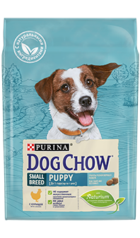 Dog Chow® Puppy Small Breed, с курицей, 2,5 кг