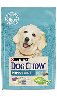 Dog Chow® Puppy, с ягненком, 14 кг