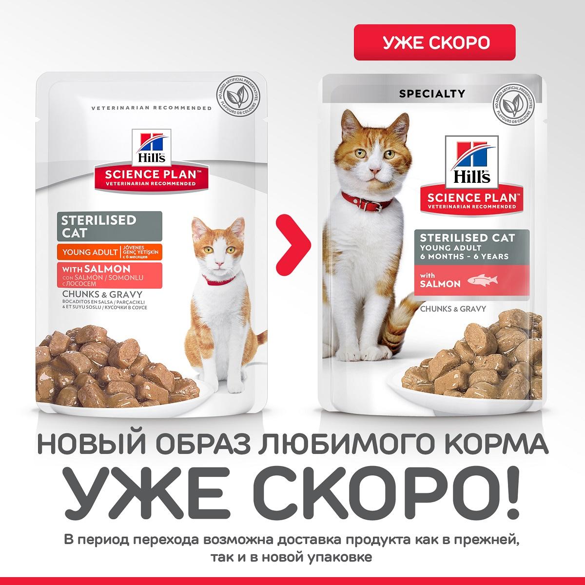 Hill's Science Plan Sterilised Cat Лосось 85гр 60297
