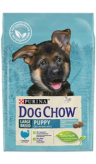 Dog Chow® Puppy Large Breed, с индейкой 14 кг
