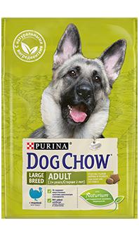Dog Chow® Adult Large Breed, с индейкой 2,5 кг