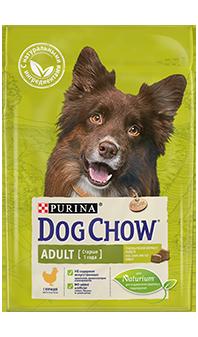 Dog Chow® Adult, с курицей, 14 кг