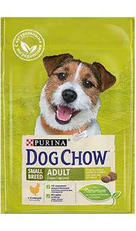Dog Chow® Adult Small Breed, с курицей 2,5 кг