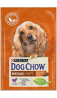 Dog Chow® Mature для взрослых собак старшего возраста, с ягненком, 14 кг
