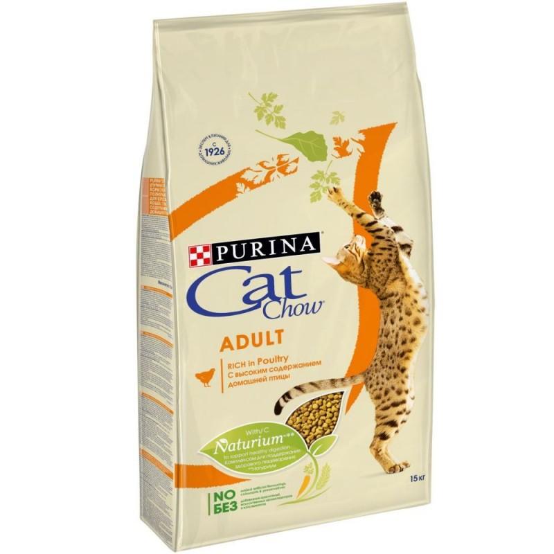 Cat Chow с Домашней птицей, 1,5 кг