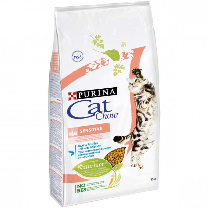 Cat Chow Sensitive, 1,5 кг