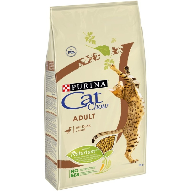 Cat Chow с Уткой, 1,5 кг