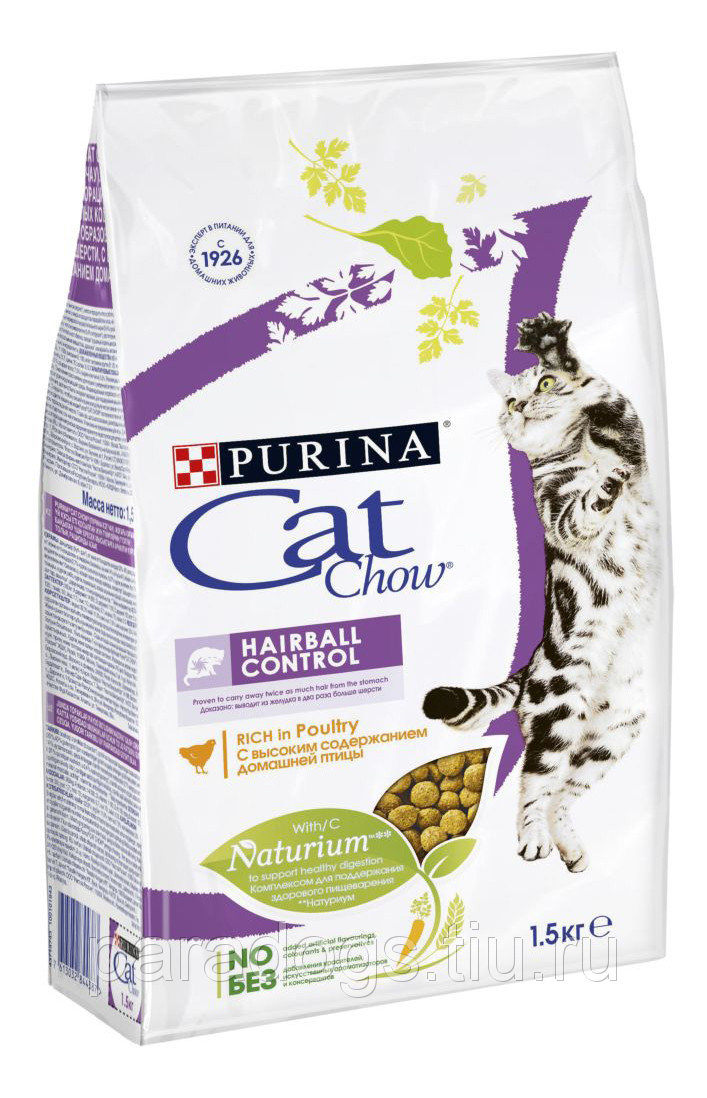 Cat Chow ® Hairball Control, 1,5 кг