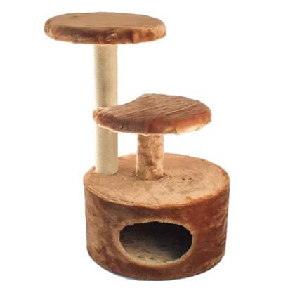 Домик ЧИП 8346шп когтеточка, 3-х уровневый круглый для кошек
