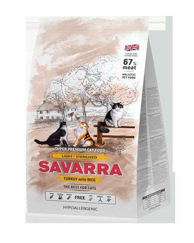 Savarra Light  для взрослых кошек 12 кг