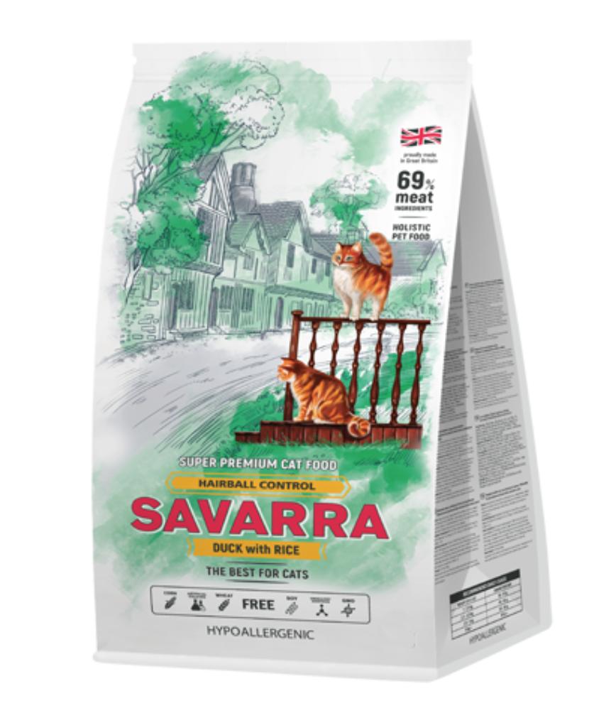 Savarra Hairball control для взрослых кошек 12 кг