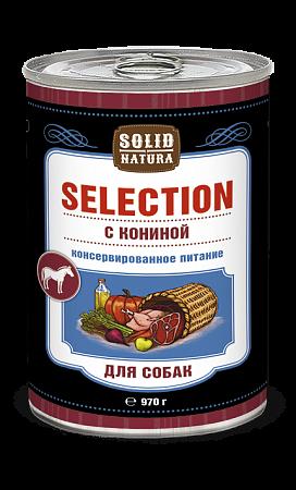 Solid Natura Selection с кониной влажный корм для собак 970 гр