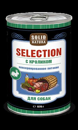 Solid Natura Selection с кроликом влажный корм для собак 970 гр
