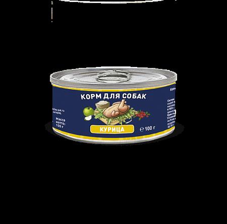 Solid Natura Курица влажный корм для собак 100 гр