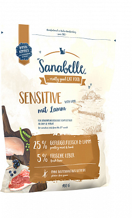 Sanabelle SENSITIVE с ягненком 2 кг