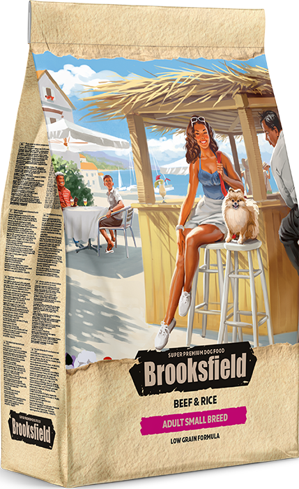 BROOKSFIELD ADULT SMALL BREED Говядина/рис 800 гр