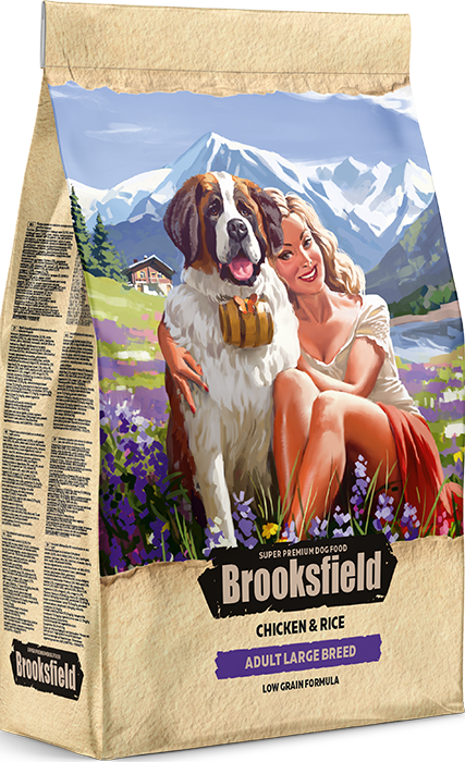 BROOKSFIELD ADULT LARGE BREED Курица/рис 12 кг