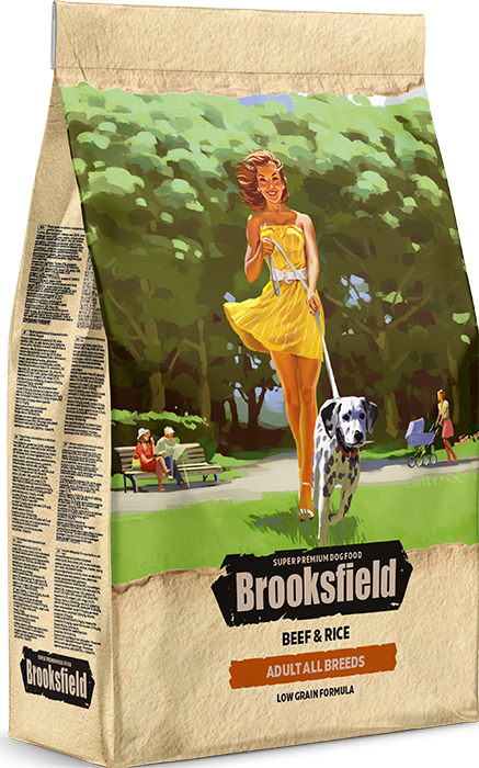 BROOKSFIELD ADULT ALL BREEDS Говядина/рис 800 гр