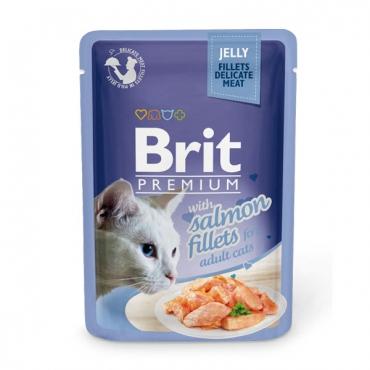 Brit Premium Salmon Fillets in Jelly 85 гр