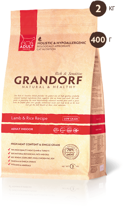Grandorf Lamb & Rice ADULT CAT 2 кг