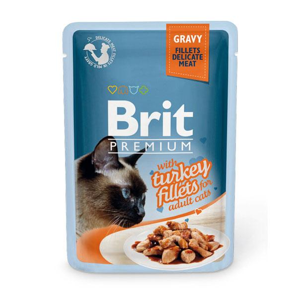 Brit Premium Turkey Fillets in Gravy 85 гр