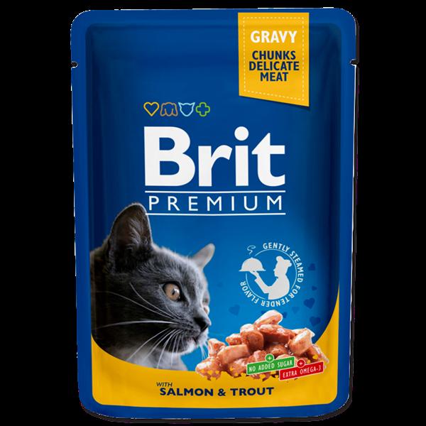 Brit Premium Salmon&Trout in Gravy 100 гр