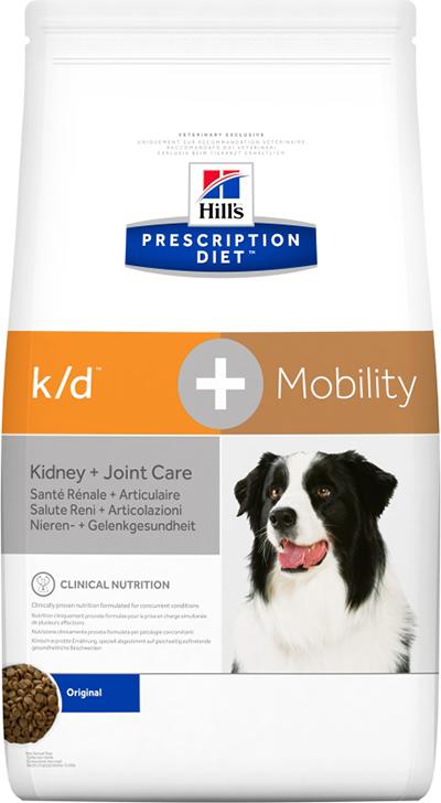 Hill's Prescription Diet k/d + Mobility Kidney + Joint Care 12 кг 10746