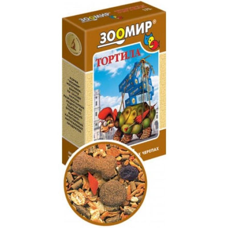Корм ЗооМир для сухопутных черепах Mix, Тортила-М, 170 гр.