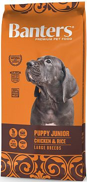 BANTERS PUPPY JUNIOR LARGE BREED CHICKEN & RICE, 15 кг
