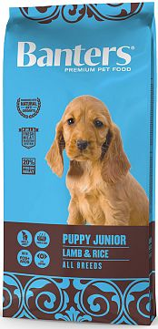 BANTERS PUPPY JUNIOR LAMB & RICE, 15 кг