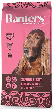 BANTERS SENIOR LIGHT CHICKEN & RICE, 15 кг