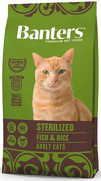 BANTERS STERILIZED FISH & RICE, 2 кг