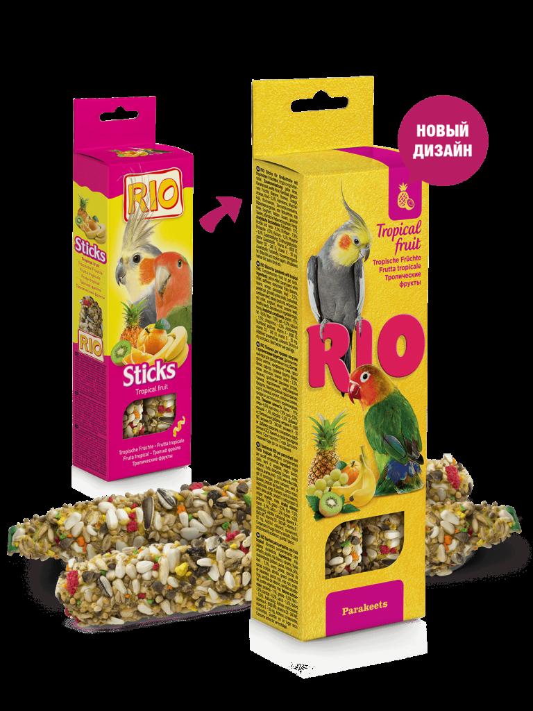 RIO. Палочки для средних попугаев с тропическими фруктами, 2*40гр